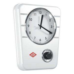 Kuchyňské hodiny s minutkou Classic, bílé - Wesco