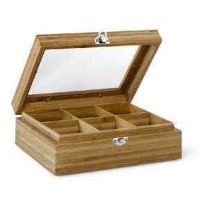 Krabička na čaj s oknem 6 přihrádek - Bredemeijer