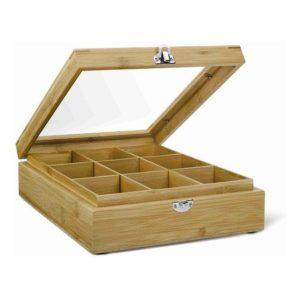 Krabička na čaj s oknem 9 přihrádek - Bredemeijer