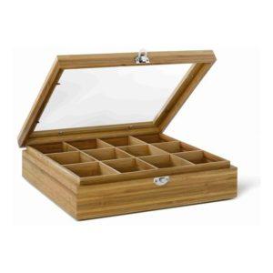 Krabička na čaj s oknem 12 přihrádek - Bredemeijer