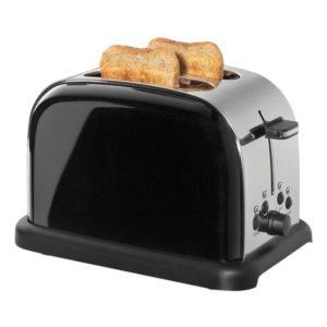 Toaster Retro na 2 plátky chleba černý - Cilio