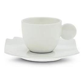 Bianco Espresso šálek s podšálkem - Carlo Giannini