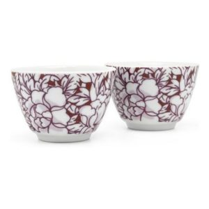 Šálky na čaj 2 ks červené Yantai - Bredemeijer