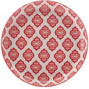 Mělký talíř 23 cm, Red Circ, Alcazar - Maxwell&Williams