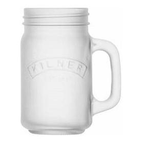 Džbán s rukojetí 0,4 l, mléčné bíle sklo - Kilner
