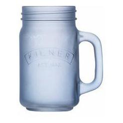 Džbán s rukojetí 0,4 l, mléčné modré sklo - Kilner