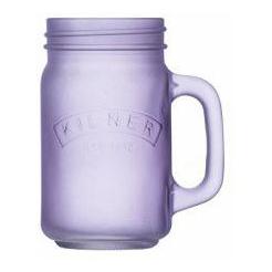 Džbán s rukojetí 0,4 l, mléčné fialové sklo - Kilner