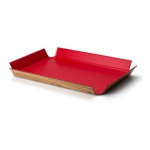 Protiskluzový podnos 45 x 34 cm, červený - Continenta