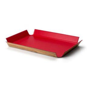 Protiskluzový podnos 41 x 29,5 cm, červený - Continenta