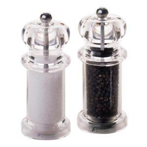 Sada mlýnků na sůl a pepř akryl 14 cm - Maxwell&Williams