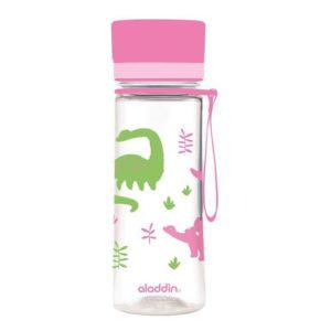 Láhev na vodu 350 ml, růžová s potiskem, AVEO KIDS - Aladdin