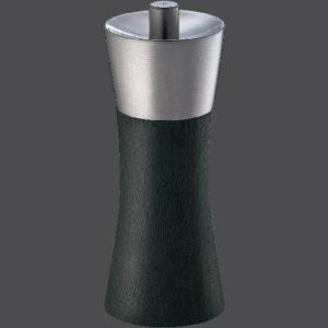 Mlýnek na sůl AUGSBURG nerez/dřevo 14 cm černý - Zassenhaus
