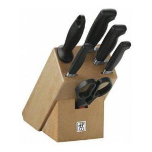 Blok s noži 7 dílů, buk, Four Star - Zwilling J.A. Henckels Solingen