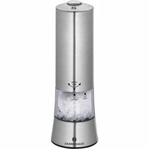 Elektrický Mlýnek na sůl GERA nerezový 18 cm - Zassenhaus