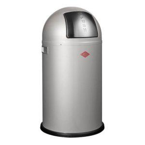 Odpadkový koš 50 l, stříbrný, PUSHBOY - WESCO