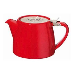 Čajová konvice bez sítka 0,4 l červená, STUMP -  Kusmi Tea