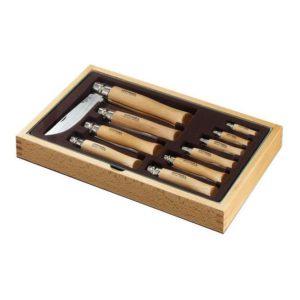 Dárkový box s 10-ti noži CLASSIC STAINLESS STEEL - OPINEL