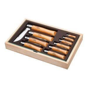 Dárkový box s 10-ti karbonovými noži CLASSIC CARBON - OPINEL