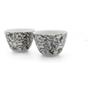 Šálky na čaj 2 ks hnědé Yantai - Bredemeijer