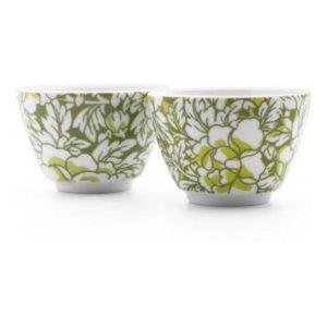 Šálky na čaj 2 ks zelené Yantai - Bredemeijer