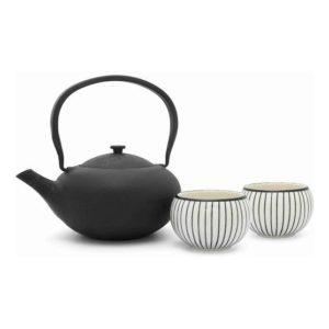 Čajová sada konvička 1l + 2 porcelánové šálky Shanxi - Bredemeijer