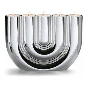 Svícen na čajové svíčky 15 cm DOUBLE U - PHILIPPI