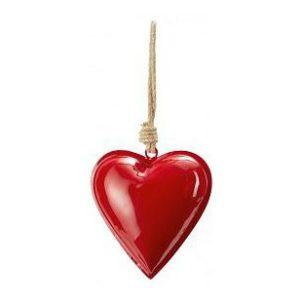 Kovové srdce 11 cm tm. červené HAMBURGER HERZ - PHILIPPI