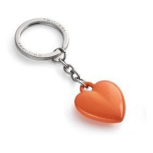 Klíčenka srdce 9 cm oranžová COEUR - PHILIPPI