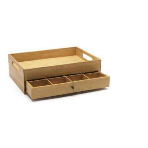 Bambusová krabička na čaj s tácem - Bredemeijer