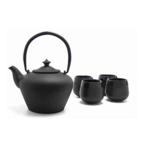 Dárková sada konvička 1l + 4 porcelánové hrnky Chengdu - Bredemeijer