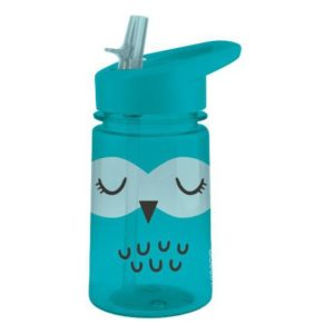 Dětská láhev s brčkem Sova 430ml Zoo Flip & Sip - Aladdin