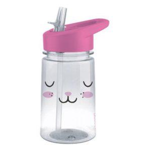 Dětská láhev s brčkem Zajíček 430ml Zoo Flip & Sip - Aladdin