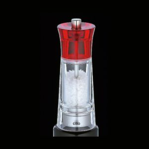 Mlýnek na sůl GENOVA červený 14 cm - Cilio