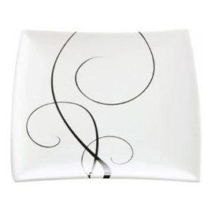 Čtvercový dezertní talíř 18 x 18 cm, WHITE BASICS BREEZE - Maxwell&Williams