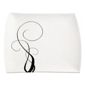 Čtvercový mělký talíř  30 x 30 cm, WHITE BASICS BREEZE - Maxwell&Williams