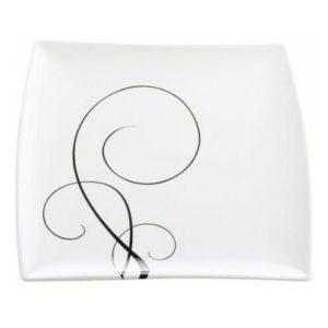 Čtvercový talíř na předkrm 23 x 23 cm, WHITE BASICS BREEZE - Maxwell&Williams