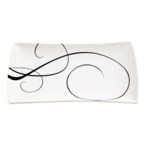 Obdélníkový talíř 20 x 11 cm, WHITE BASICS BREEZE - Maxwell&Williams