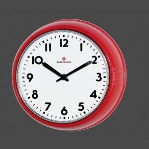 Retro nástěnné hodiny červené 24 cm - Zassenhaus