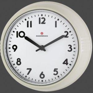 Retro nástěnné hodiny smetanové 24 cm - Zassenhaus