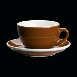Porcelánový šálek na Cappuccino ROMA hnědý 100 ml - Cilio