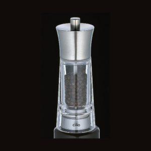 Mlýnek na pepř GENOVA akryl/nerez 14 cm - Cilio