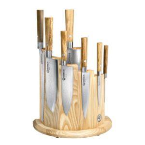Set damaškových kuchyňských nožů Damast Olive 7ks - Böker Solingen