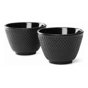 Šálky na čaj 2 ks, černé, Jang - Bredemeijer
