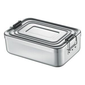 Svačinový box alu stříbrný 5x12x18 cm - Küchenprofi